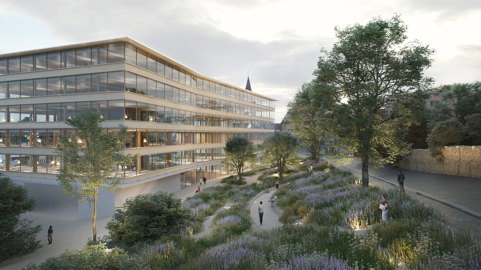 New Campus Platztor of the University of St.Gallen